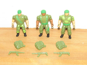 Ace Novelty Co MAF Mighty Action Forces Light Infantry 3 Figure Set