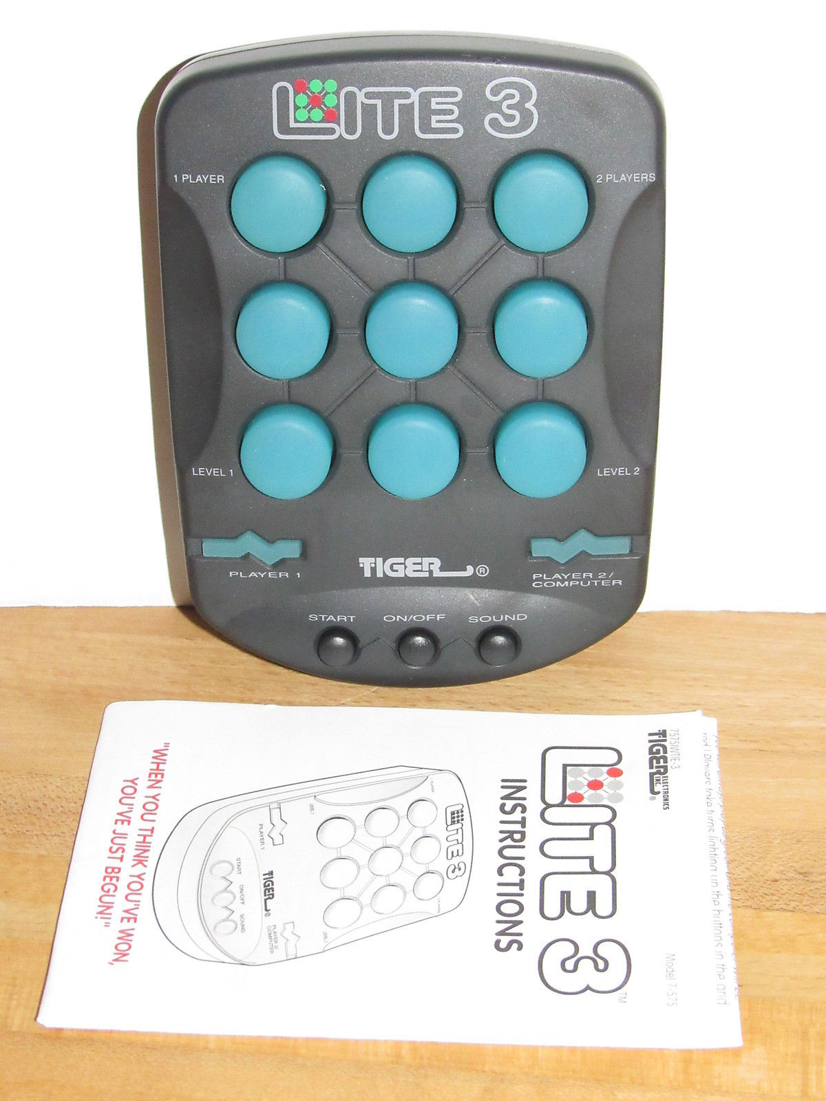 Tiger Electronics Lite 3 Handheld Puzzle Game