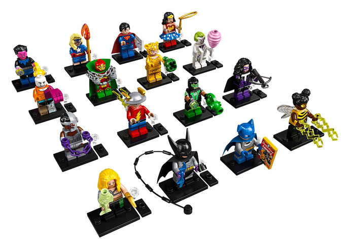 Lego Collectible Minifigures DC Super Heroes 71026 Complete Set of 16 Figures