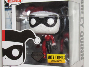 Funko Pop Heroes 156 Batman The Animated Series Harley Quinn Diamond Collection Hot Topic Exclusive