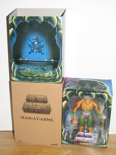 Super7 He-Man Masters of the Universe Classics Club Grayskull Filmation Man-At-Arms