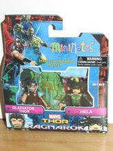 Load image into Gallery viewer, Marvel Minimates Thor Ragnarok Gladiator Thor & Hela