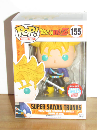 Funko Pop Animation 155 Dragonball Z Super Saiyan Trunks NYCC 2016 Exclusive