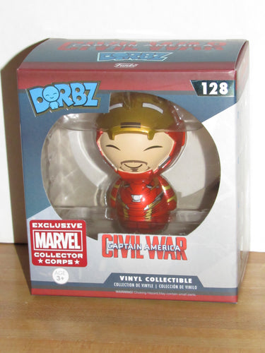 Funko Dorbz 128 Marvel Captain America Civil War Unmasked Iron Man MCC Exclusive