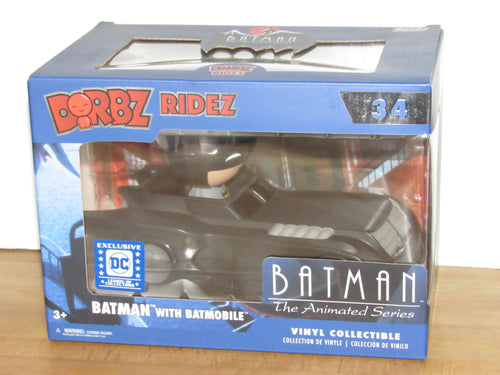 Funko Dorbz Ridez 34 Batman The Animated Series Batmobile DC Legion of Collectors