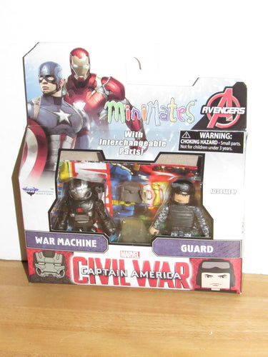 Marvel Minimates Captain America: Civil War War Machine & Guard