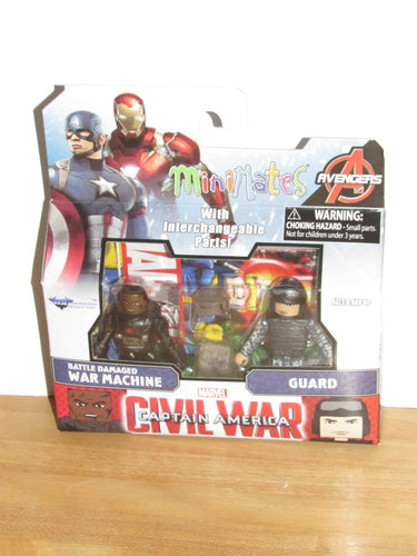 Marvel Minimates Captain America: Civil War Battle Damaged War Machine & Guard