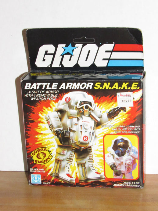 GI Joe Battle Armor SNAKE (White Variant) MISB