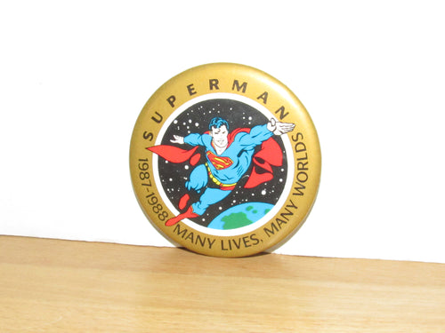 DC Comics Superman Many Lives, Many Worlds Button