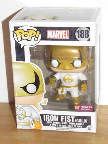 Funko Pop Marvel 188 Iron Fist Previews Exclusive (Gold)