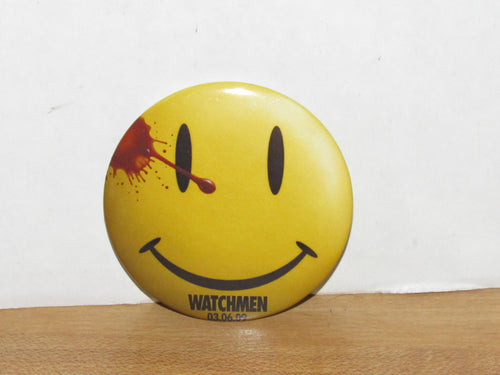 DC Comics Watchmen Movie Promotional Button (Comedian's Smiley Face)