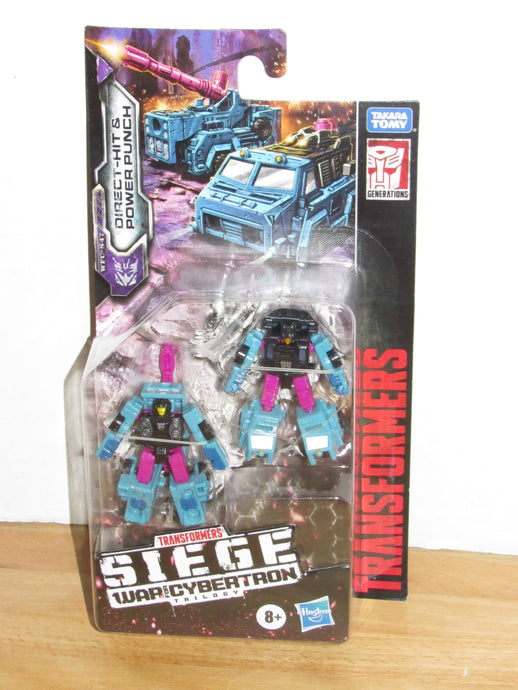 Transformers Generations War for Cybertron Trilogy: Siege Micromaster Battle Squad Direct-Hit & Power Punch
