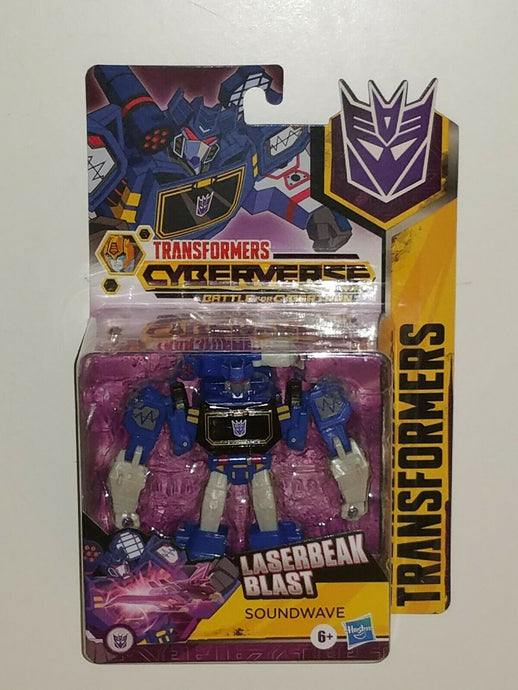 Transformers Cyberverse Battle for Cybertron Warrior Class Soundwave