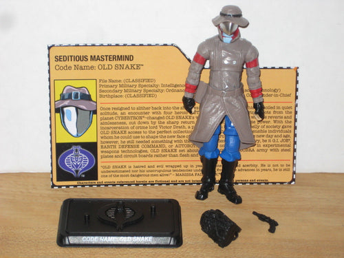 GI Joe & The Transformers TFCC Exclusive Old Snake (Cobra Commander)