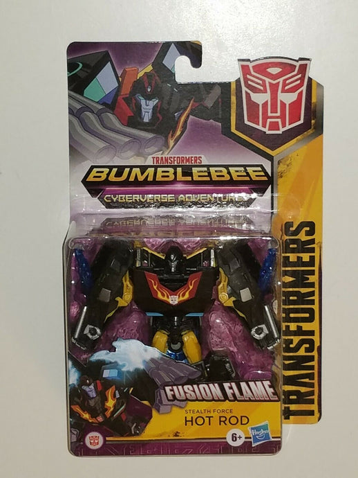 Transformers Bumblebee Cyberverse Adventures Warrior Class Stealth Force Hot Rod