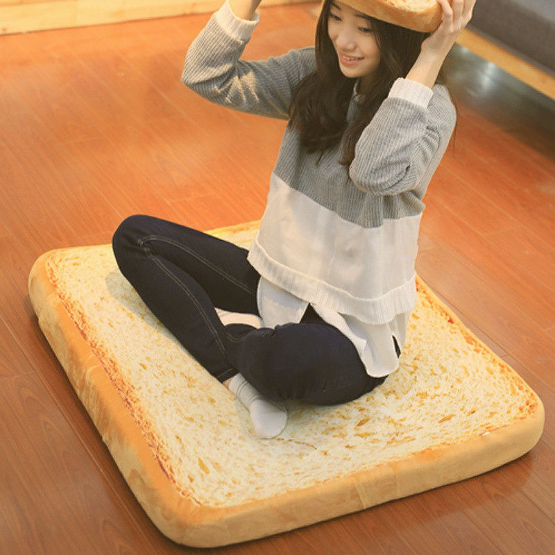 Realistic Toasted Pet Bread Cushion