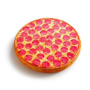 Realistic Pepperoni Pizza Cushion