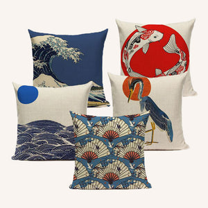 Retro Japanese Linen Cushion Covers - Series 1