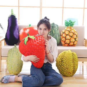 Realistic Fruit & Vegetable Cushions