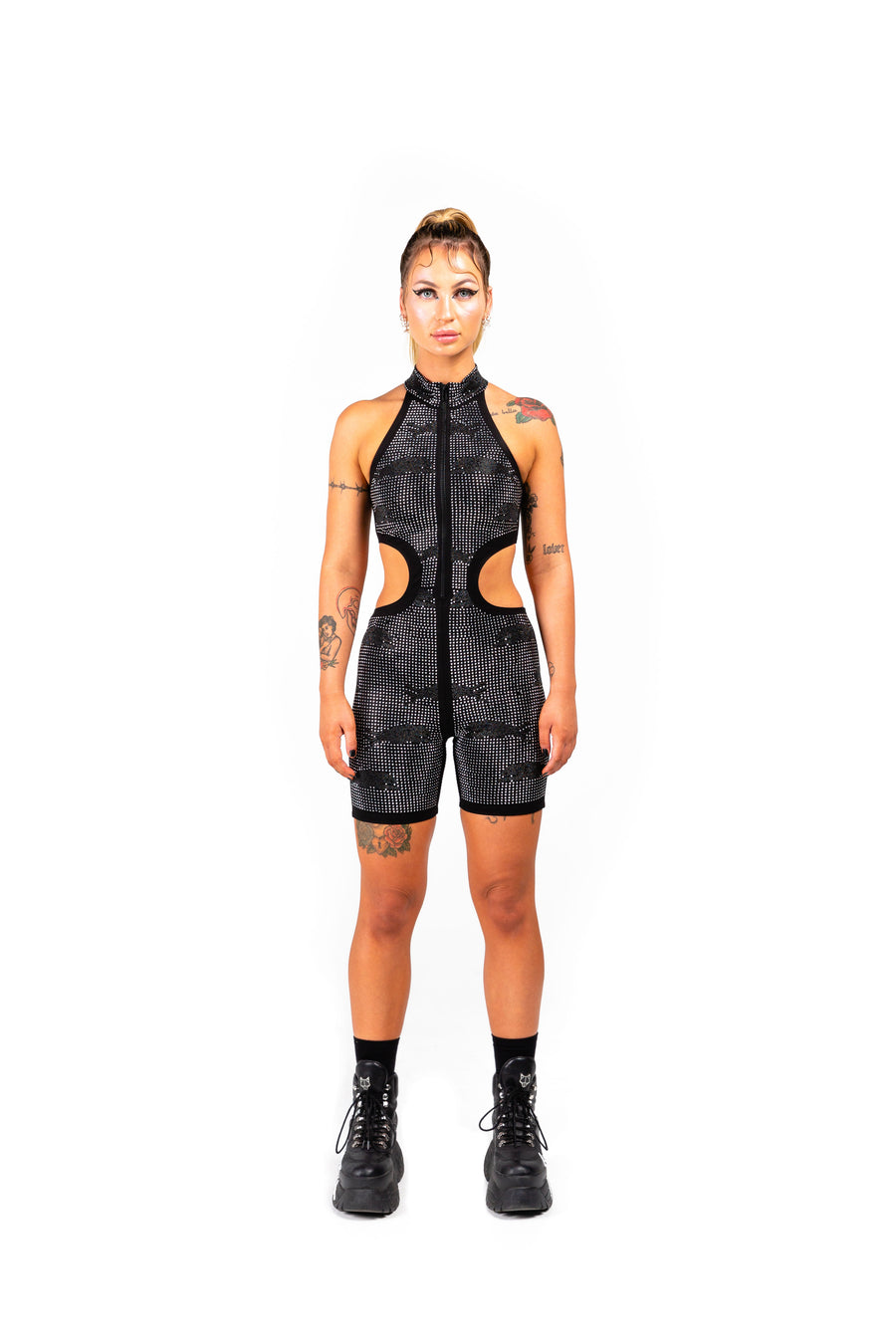 COMPOUND UNITARD - BLACK