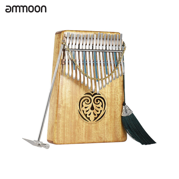 Kalimba mBira 17 keys Solid Wood Thumb Piano with Carry Bag