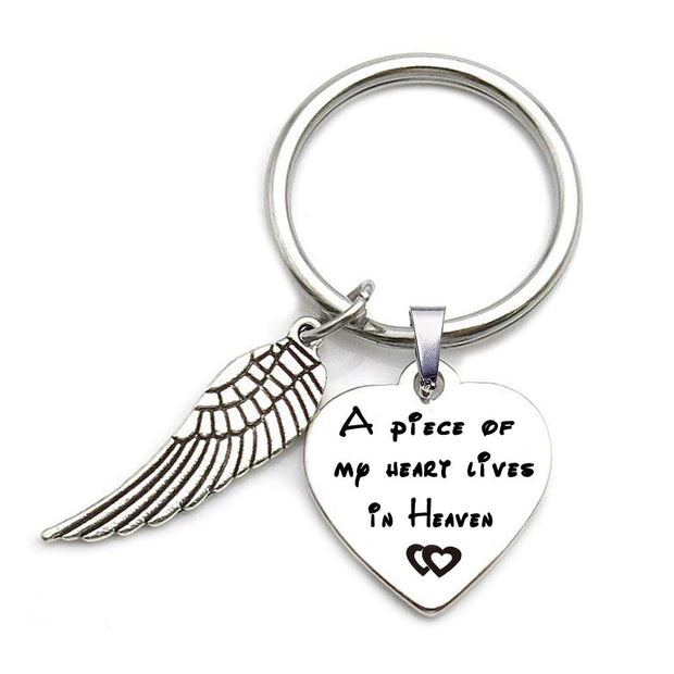 A Piece of My Heart Live in Heaven Key Chain True Voyage Apparel
