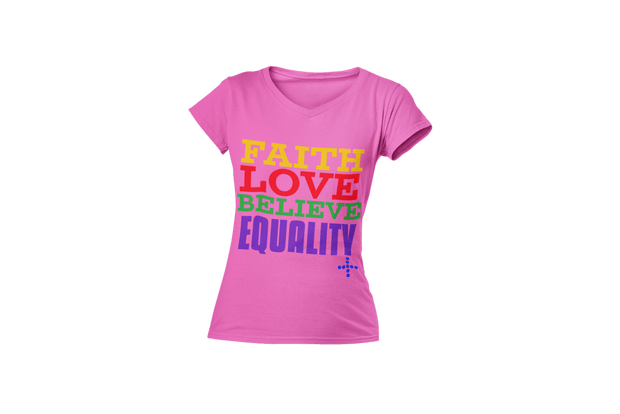 Believe in Equality V-Neck T-Shirt Fuel