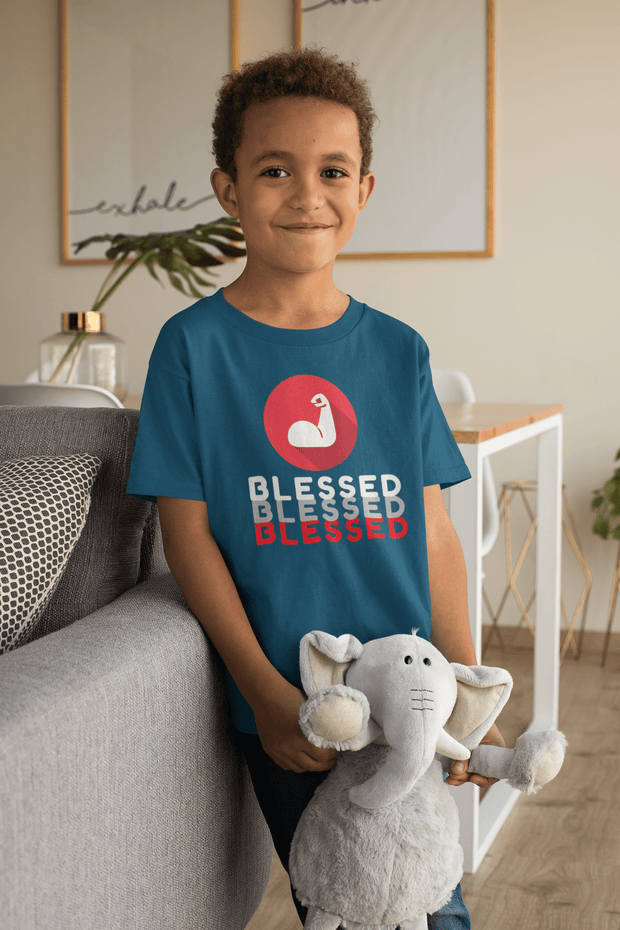 Blessed - Boy's Youth T- Shirt Fuel
