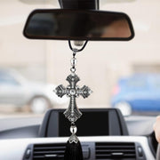Car Interior Cross Mirror Pendant True Voyage Apparel