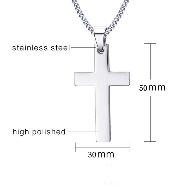 Chain Link Cross Pendant Necklace True Voyage Apparel