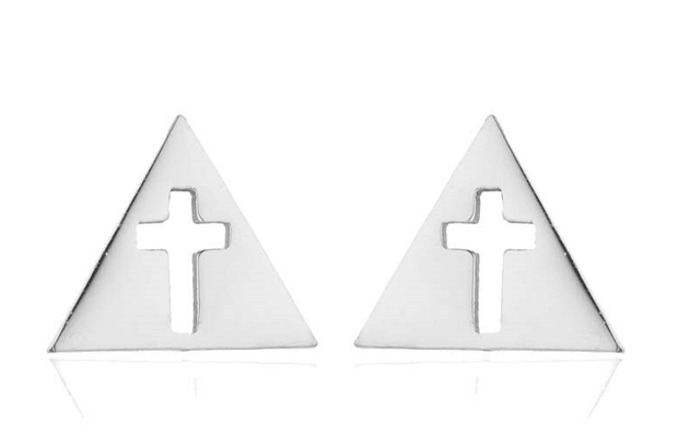 Christian Stainless Steel Cross Stud Earrings True Voyage Apparel