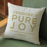 Consider It Pure Joy James 1:2 Cushion Cover True Voyage Apparel