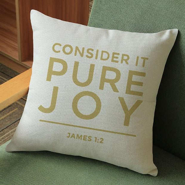 Consider It Pure Joy James 1:2 Cushion Cover
