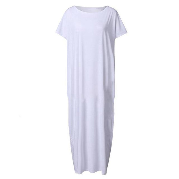 Dahlia Maxi T-Shirt Dress True Voyage Apparel