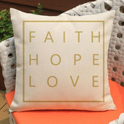 Faith Hope Love Cushion Cover True Voyage Apparel