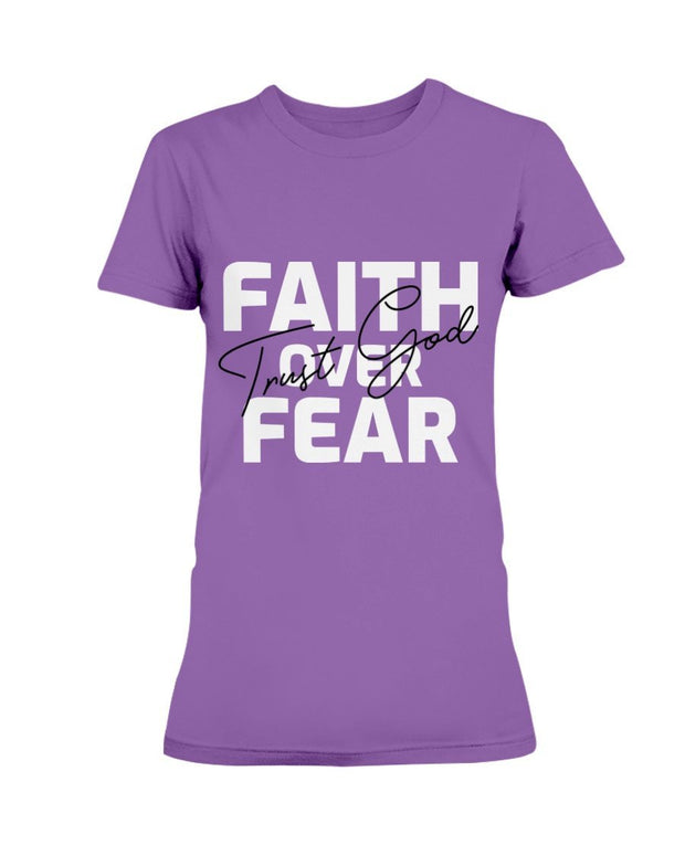 Faith Over Fear -Women's Short Sleeve / V-Neck T-Shirt Fuel