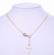 Infinite Cross Pendant Necklace True Voyage Apparel