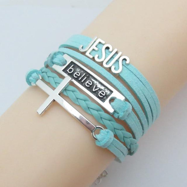 Infinity Jesus Cross Bracelet True Voyage Apparel