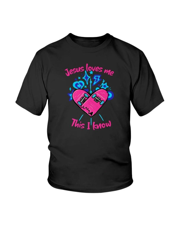 Jesus Loves Me Youth Girls T Shirt Fuel