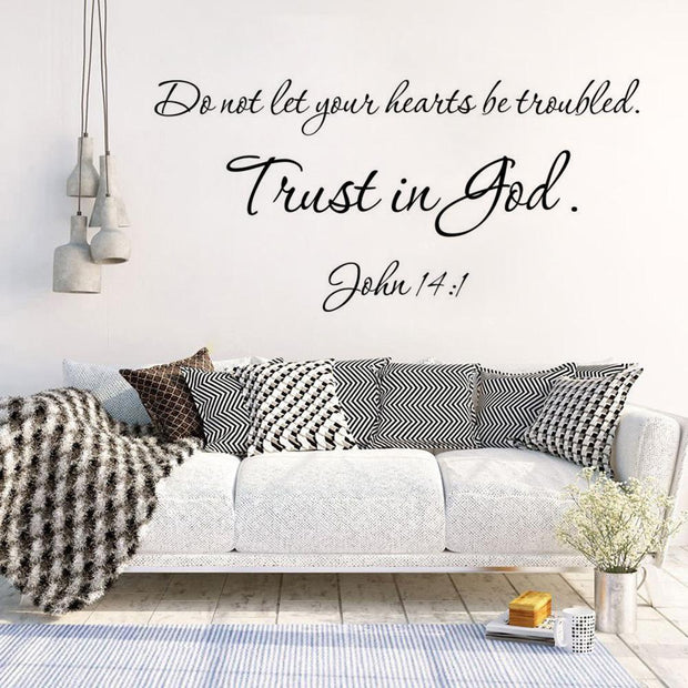 John 14:1 Removable Vinyl Wall Decals True Voyage Apparel