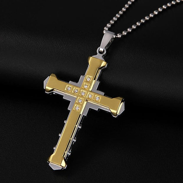 Men's Chain With Cross Necklace True Voyage Apparel