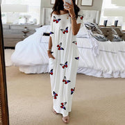 Patriotic Butterfly Maxi T-Shirt Dress True Voyage Apparel