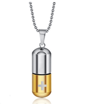 Titanium Steel Capsule Pendant Necklace True Voyage Apparel