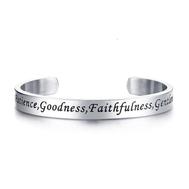 Unisex Faith Stainless Steel Bracelets True Voyage Apparel