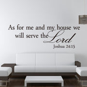 We Will Serve The Lord Vinyl Wall Decal True Voyage Apparel