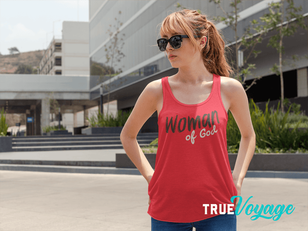 Woman of God- Women's Racerback Tank Fuel