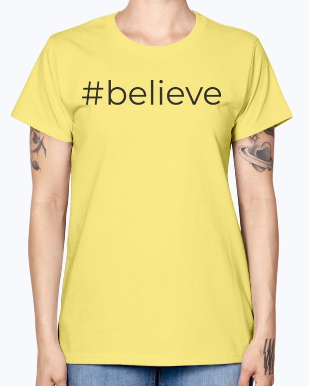 #believe  Short-Sleeve Women's T-Shirt Fuel