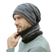 Unisex Winter Windshield Scarf and Hat Set