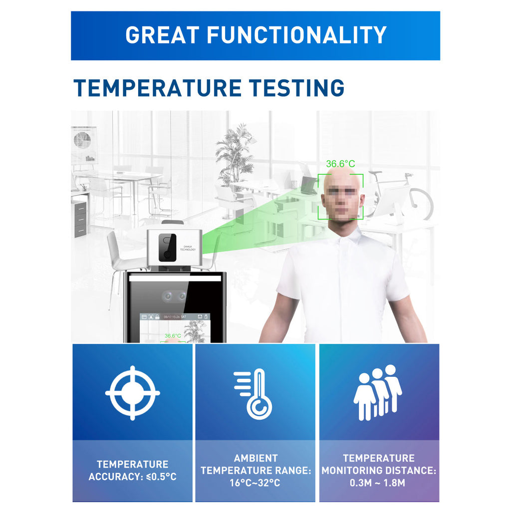 Temperature Screening Kiosk With Wall Mount