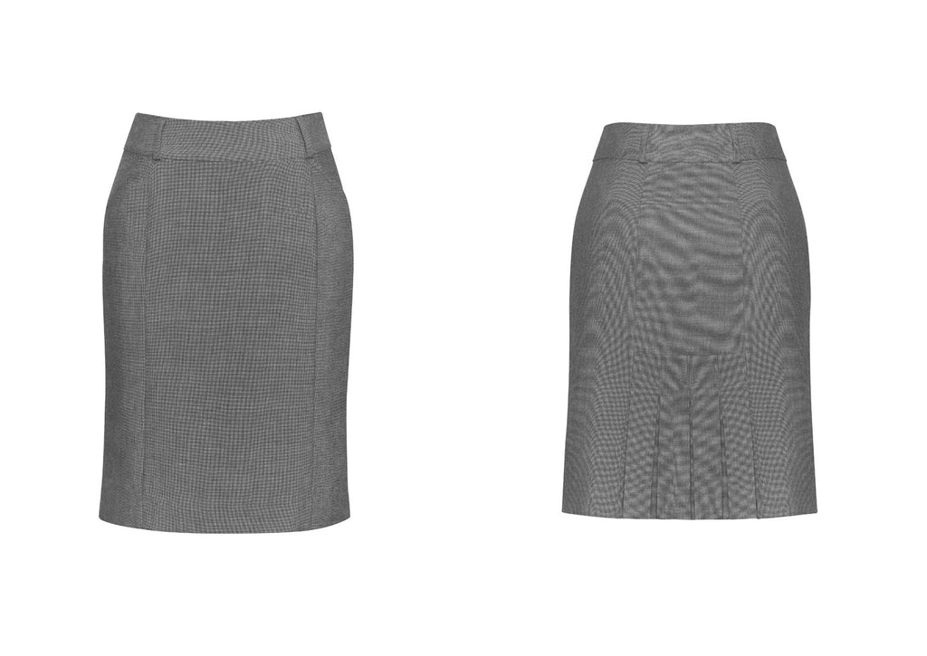 WOMENS PANELLED SKIRT WITH REAR SPLIT